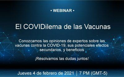"""Segundo Webinar """"El CoviDilema de las vacunas"""""""