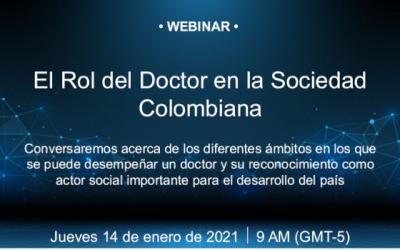 """Primer Webinar """"El Rol del Doctor en la Sociedad Colombiana"""""""